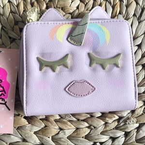 NWT Betsey Johnson Pink Unicorn Wallet Coin Purse